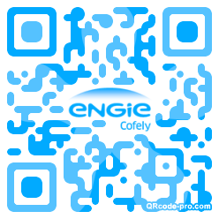 QR code with logo Kuf0