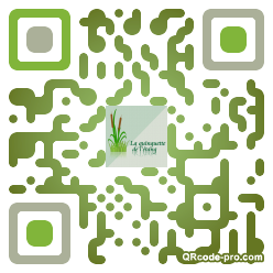 QR code with logo L9k0
