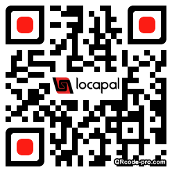 QR code with logo LFH0