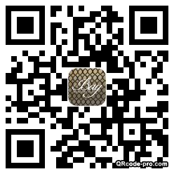 QR code with logo M1S0