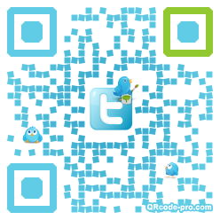 QR code with logo M1b0