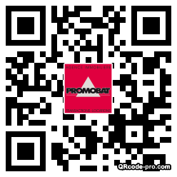 QR code with logo M3t0