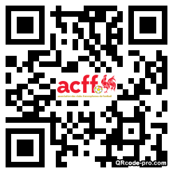 QR code with logo M4H0