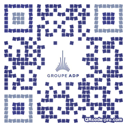 QR code with logo MNk0
