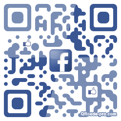 QR code with logo MbS0