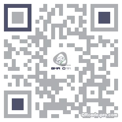 QR code with logo MdE0