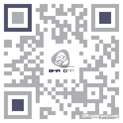 QR code with logo MdF0