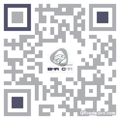 QR code with logo MdH0