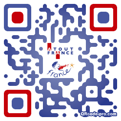 QR code with logo MeR0