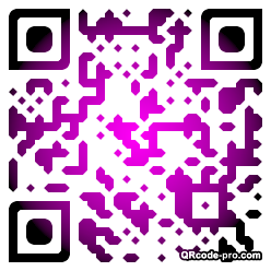 QR code with logo MjS0