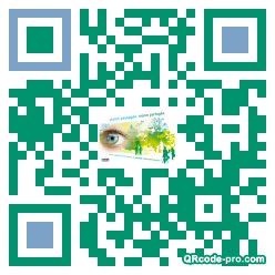 QR code with logo Mmt0