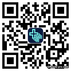 QR code with logo MoZ0