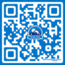 QR code with logo Mtr0
