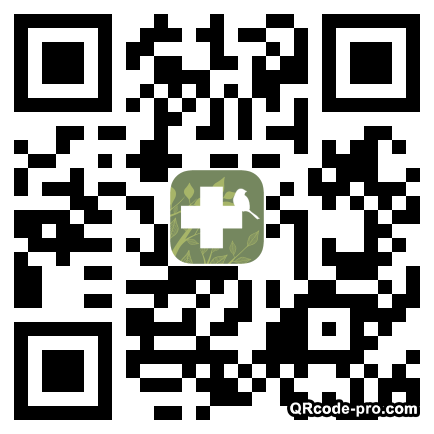 QR code with logo NK80