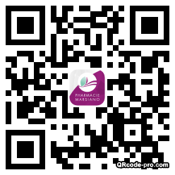 QR code with logo NKc0