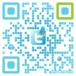 QR code with logo NZF0