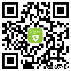 QR code with logo Nad0