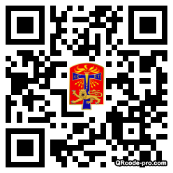 QR code with logo NiA0