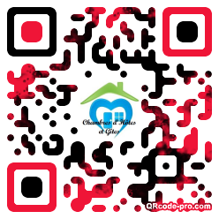 QR code with logo Ok70