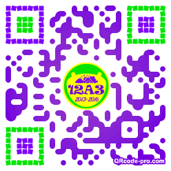 QR code with logo Ouh0
