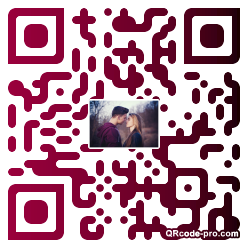 QR code with logo P1G0