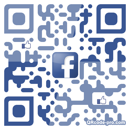QR code with logo P8N0