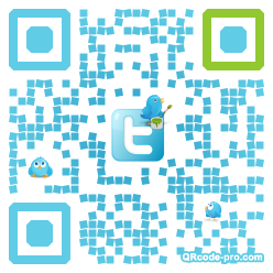 QR code with logo P9W0
