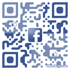 QR code with logo P9X0