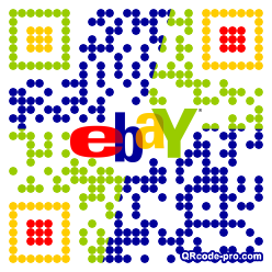 QR code with logo P9Y0