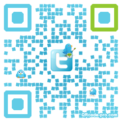 QR code with logo PGB0