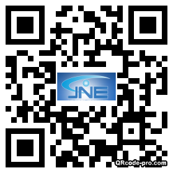 QR code with logo PZX0