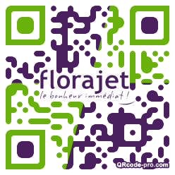 QR code with logo Pa30