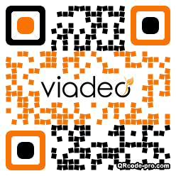 QR code with logo Pc70