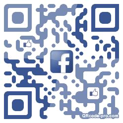 QR code with logo Peb0