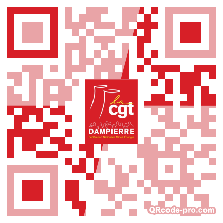 QR code with logo Pf30