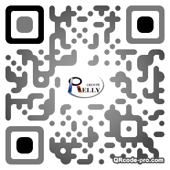 QR code with logo PnJ0