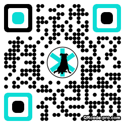QR code with logo PzI0