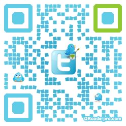 QR code with logo QBA0