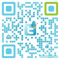 QR code with logo QTX0