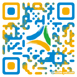 QR code with logo QbB0