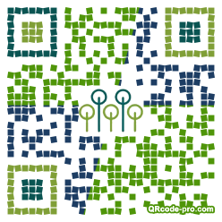 QR code with logo Qbh0