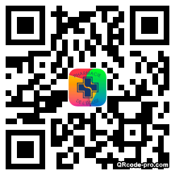 QR code with logo Qdk0