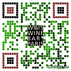 QR code with logo RG80