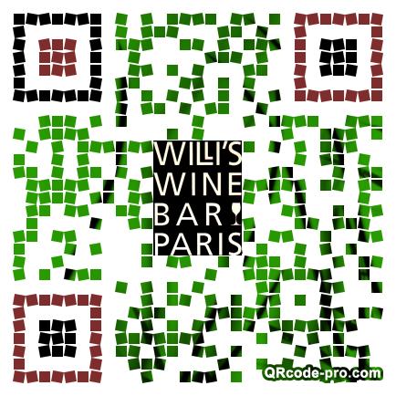 QR code with logo RG80