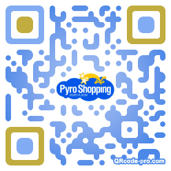 QR code with logo RcM0