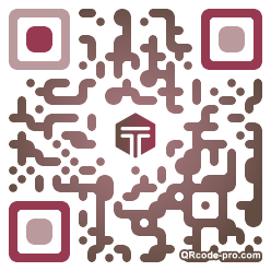 QR code with logo S8Z0