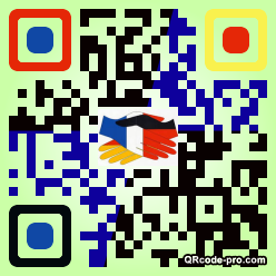 QR code with logo SgR0