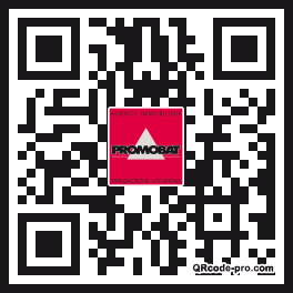 QR code with logo T4l0