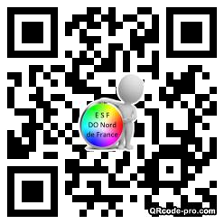 QR code with logo TEU0