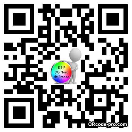 QR code with logo TEq0